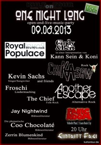 Kult on Tour - One Night Long am 9.8.2013